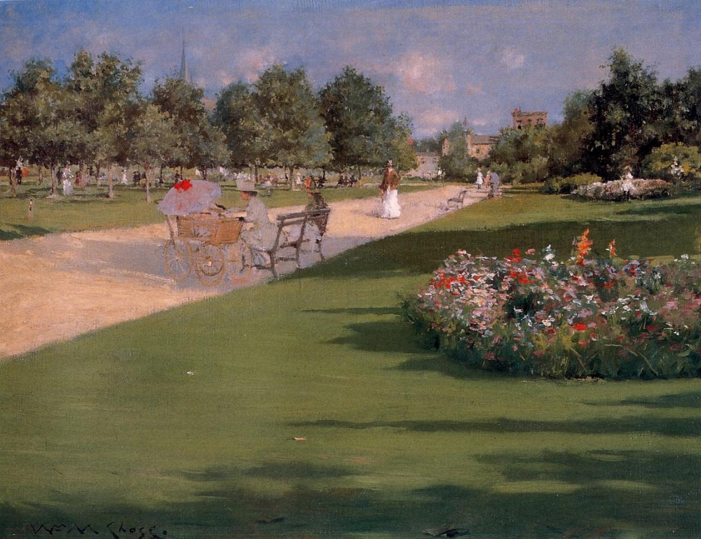 Tompkins Park Brooklyn by William Merritt Chase