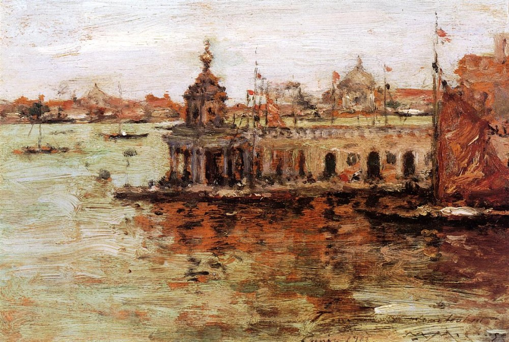 Venice View of the Navy Arsenal by William Merritt Chase