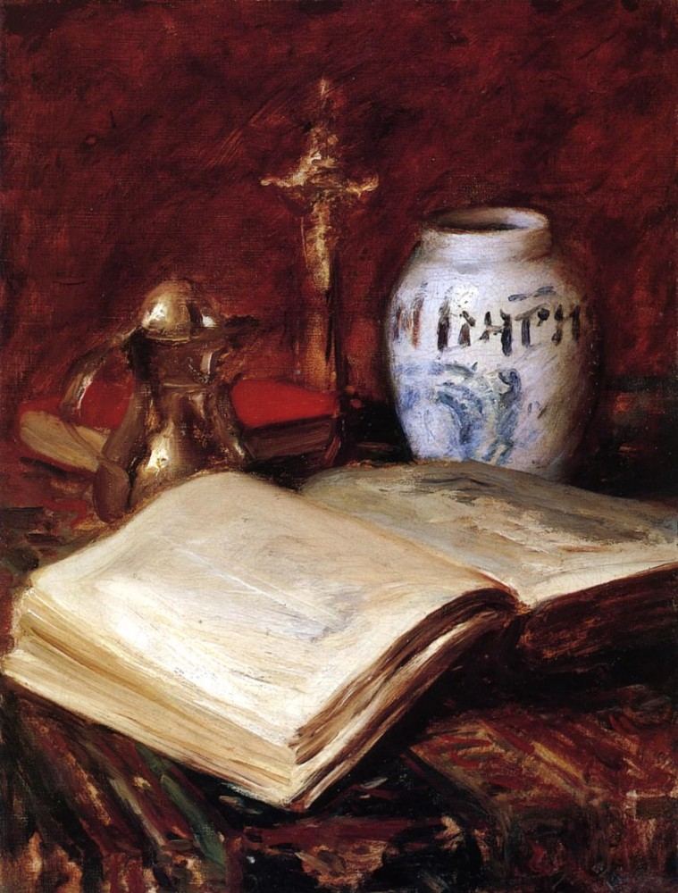 The Old Book by William Merritt Chase