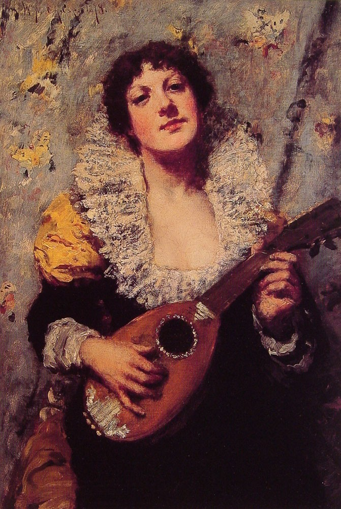 The Mandolin Player by William Merritt Chase