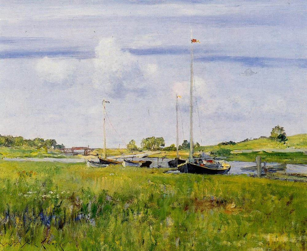 At the Boat Landing by William Merritt Chase
