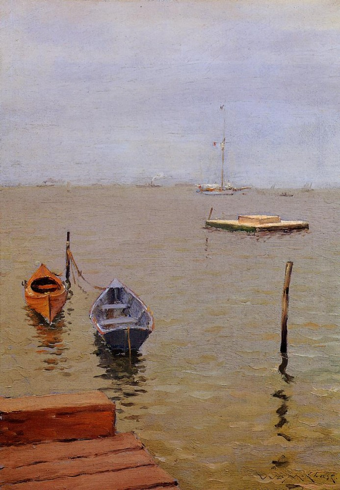 Stormy Day Bath Beach by William Merritt Chase