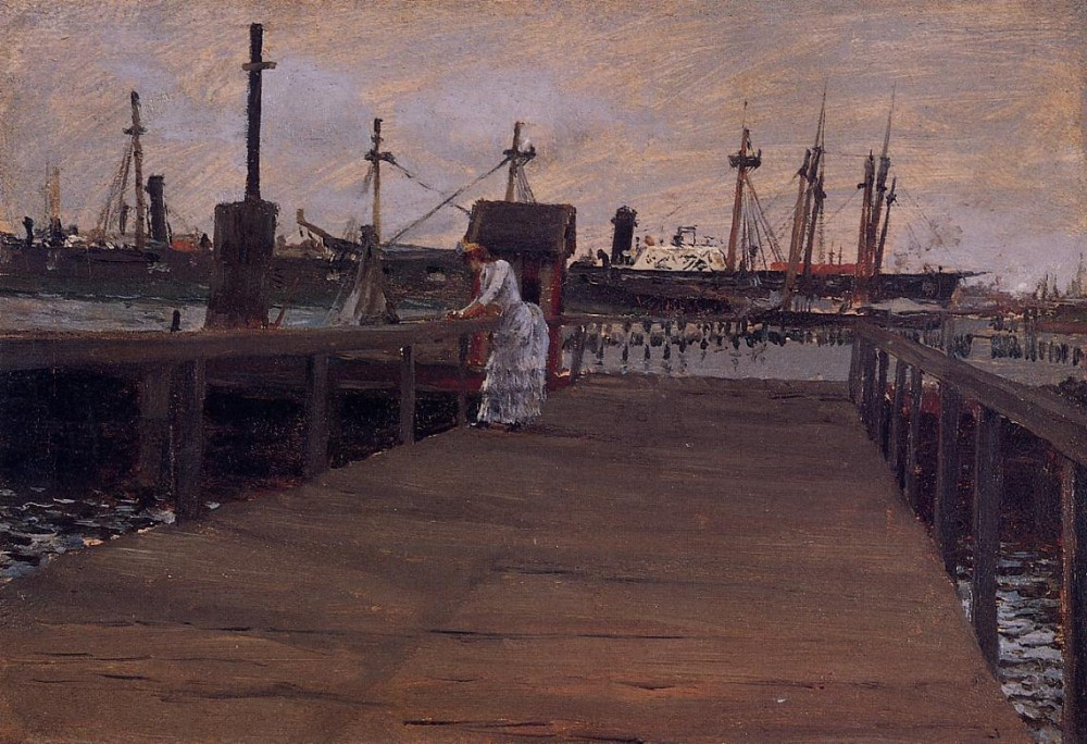 Woman on a Dock by William Merritt Chase