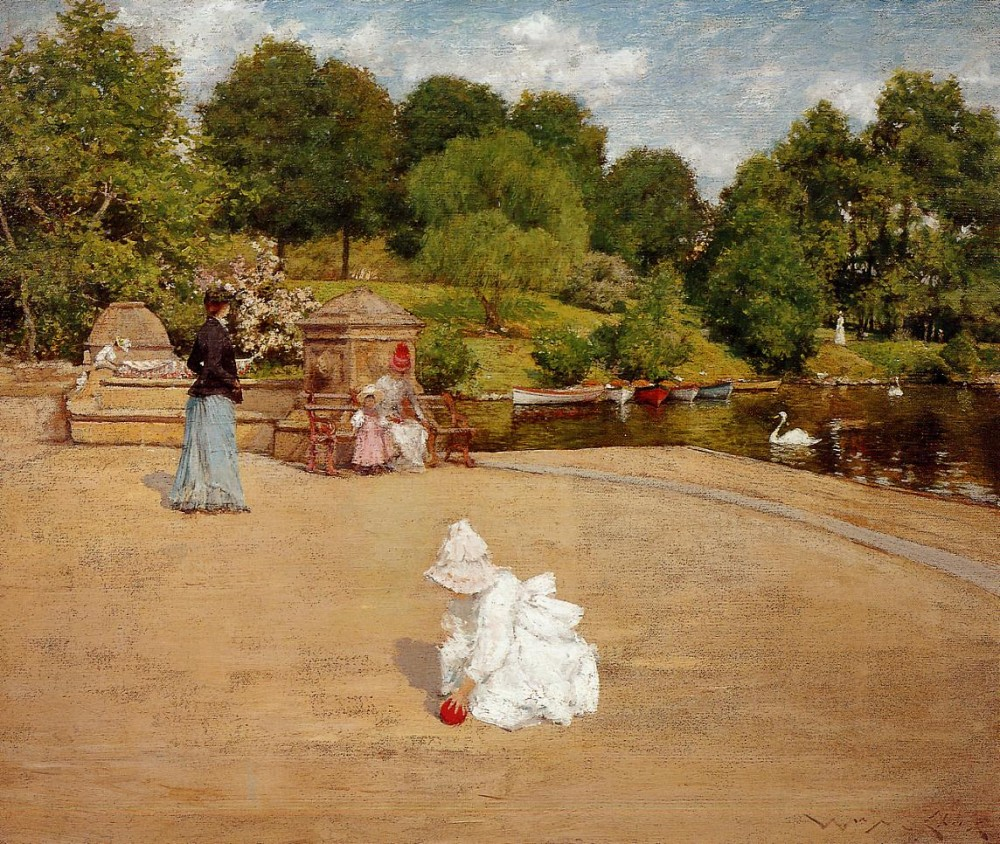 A Bit of the Terrace by William Merritt Chase
