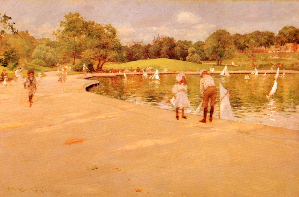 Lilliputian Boat Lake by William Merritt Chase