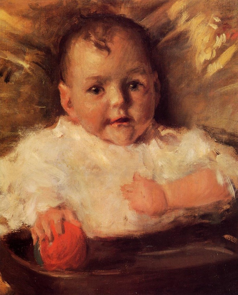Bobbie A Portrait by William Merritt Chase