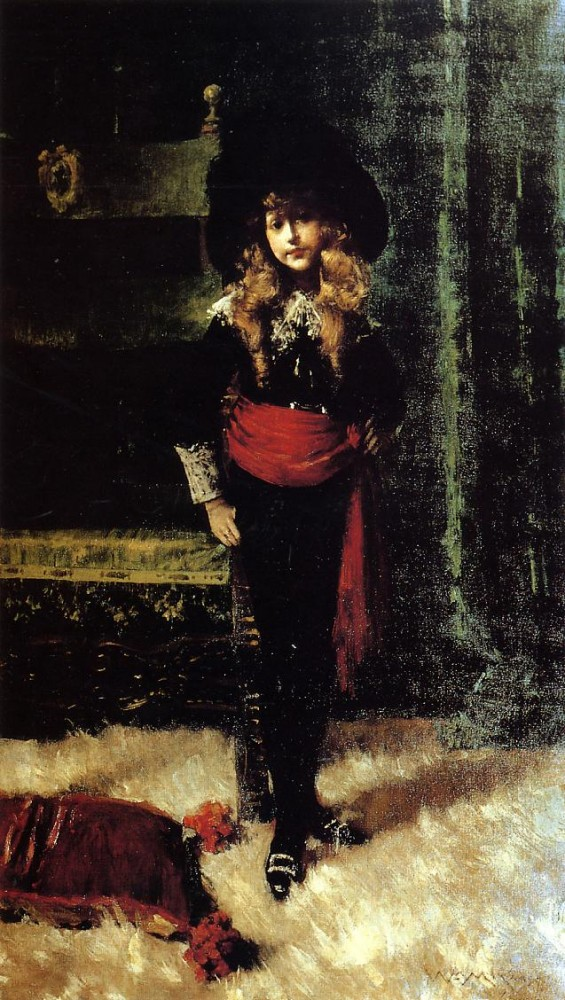 Elsie Leslie Lyde as Little Lord Fauntleroy by William Merritt Chase