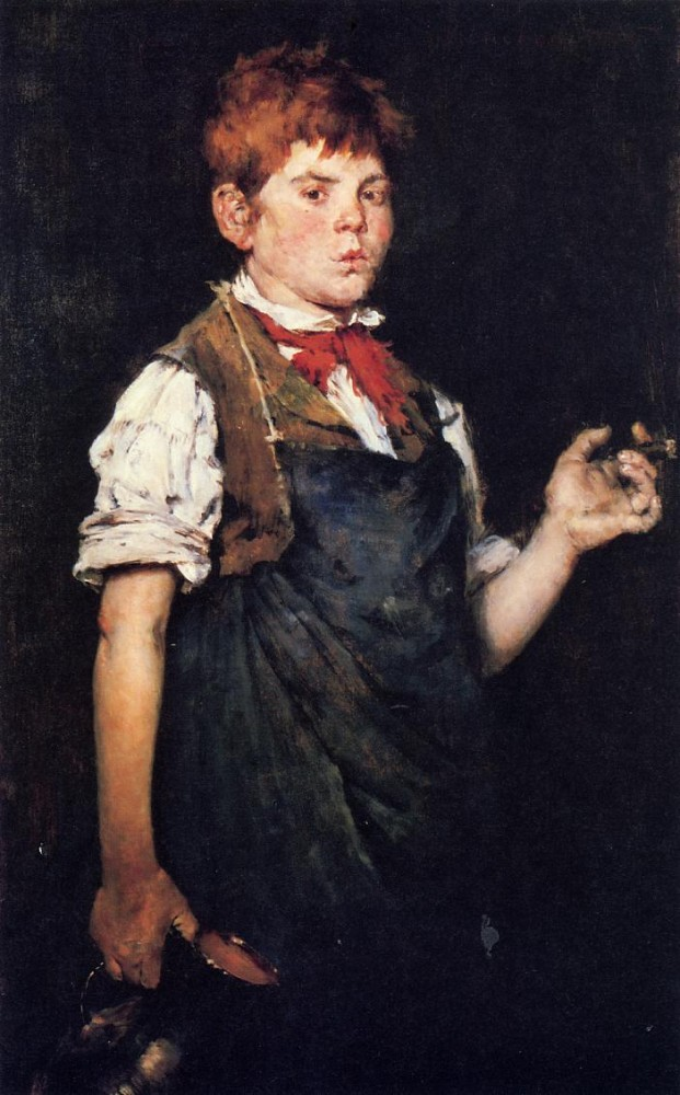 The Apprentice aka Boy Smoking by William Merritt Chase