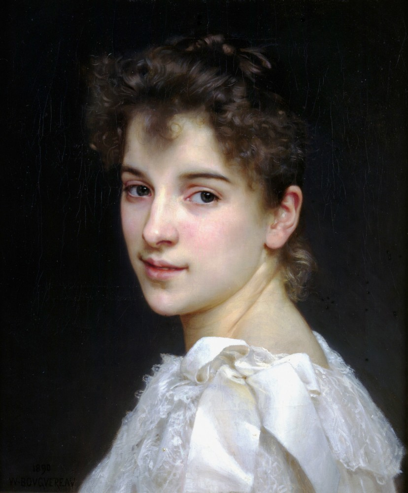 Gabrielle Cot by William-Adolphe Bouguereau