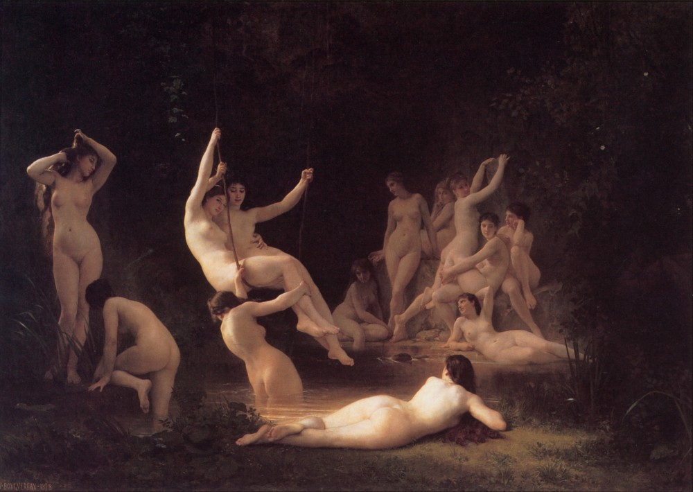 The Nymphaeum by William-Adolphe Bouguereau