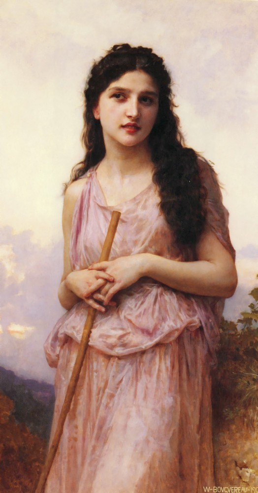 Meditation by William-Adolphe Bouguereau