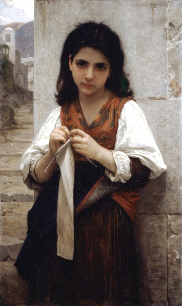 Tricoteuse by William-Adolphe Bouguereau