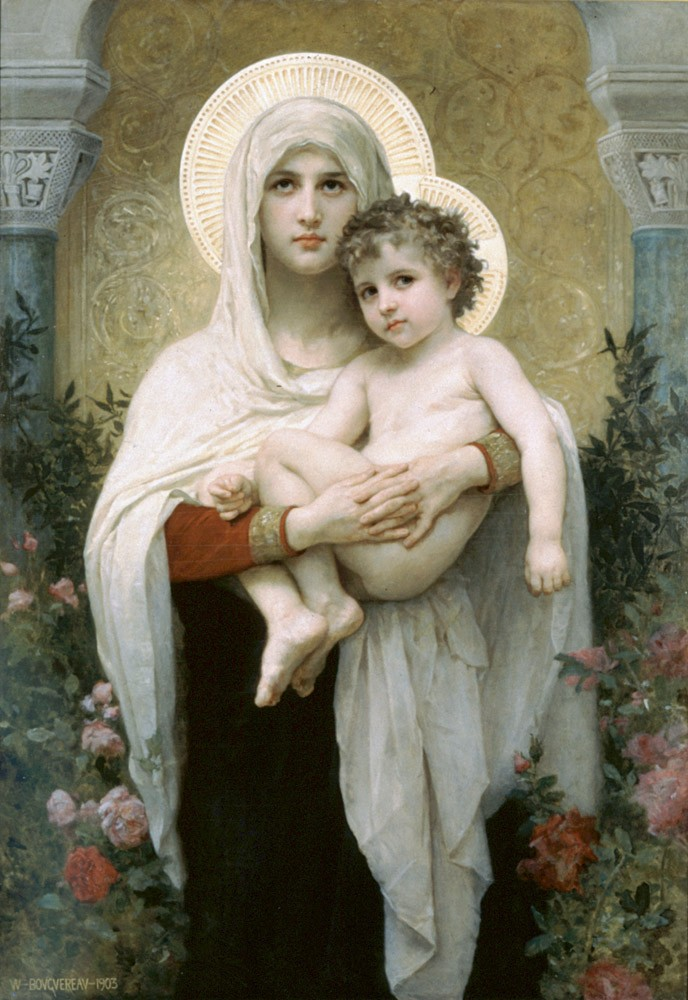 La madone Aux Roses by William-Adolphe Bouguereau