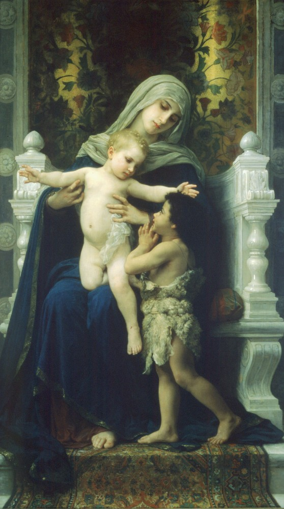 La Vierge LEnfant Jesus et Saint Jean Baptiste by William-Adolphe Bouguereau