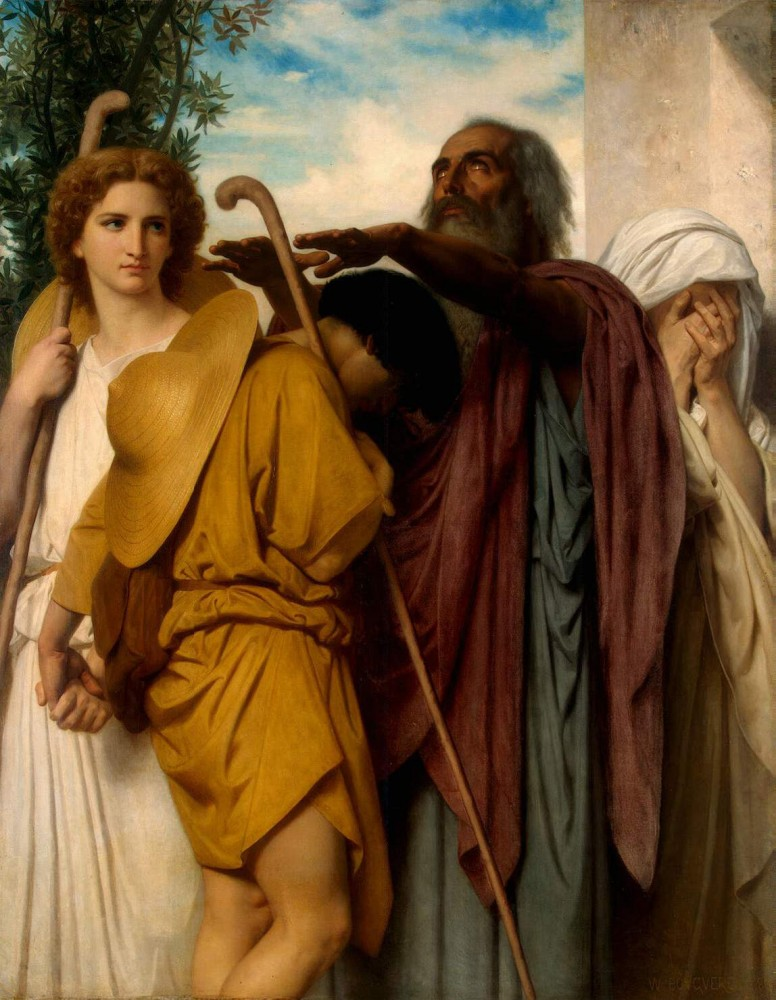 Tobias Saying Goodbye to his Father by William-Adolphe Bouguereau