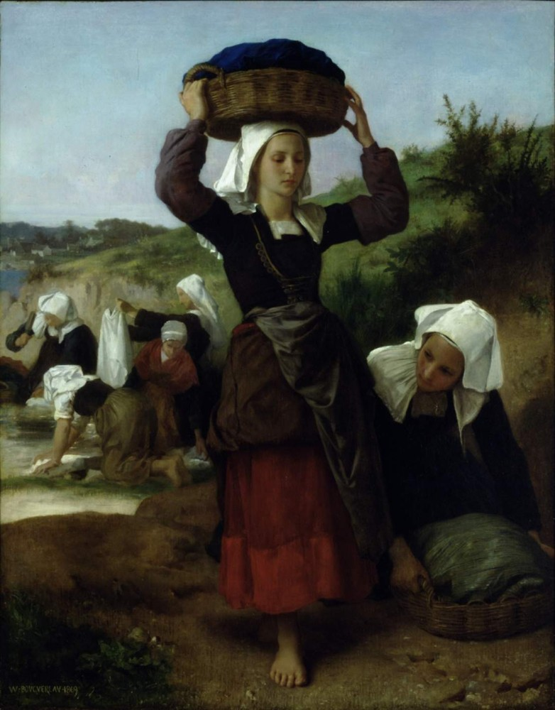 Washerwomen of Fouesnant by William-Adolphe Bouguereau