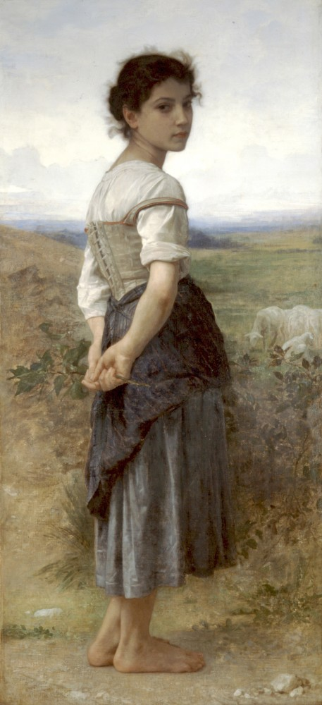 Jeune Bergere CA by William-Adolphe Bouguereau