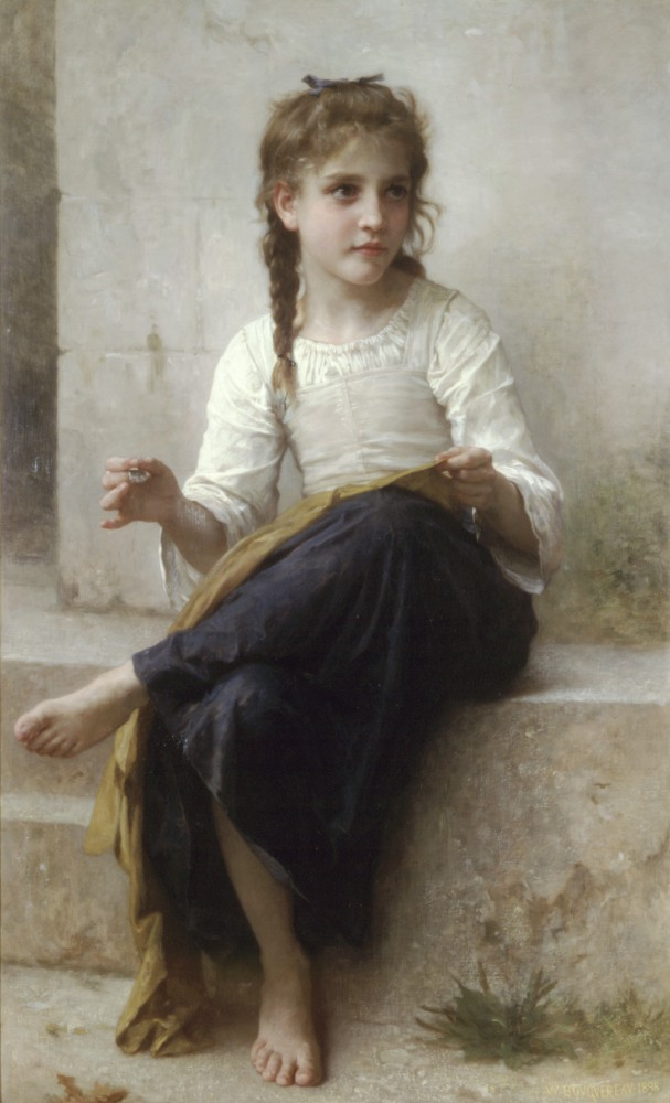 La Couturiere by William-Adolphe Bouguereau