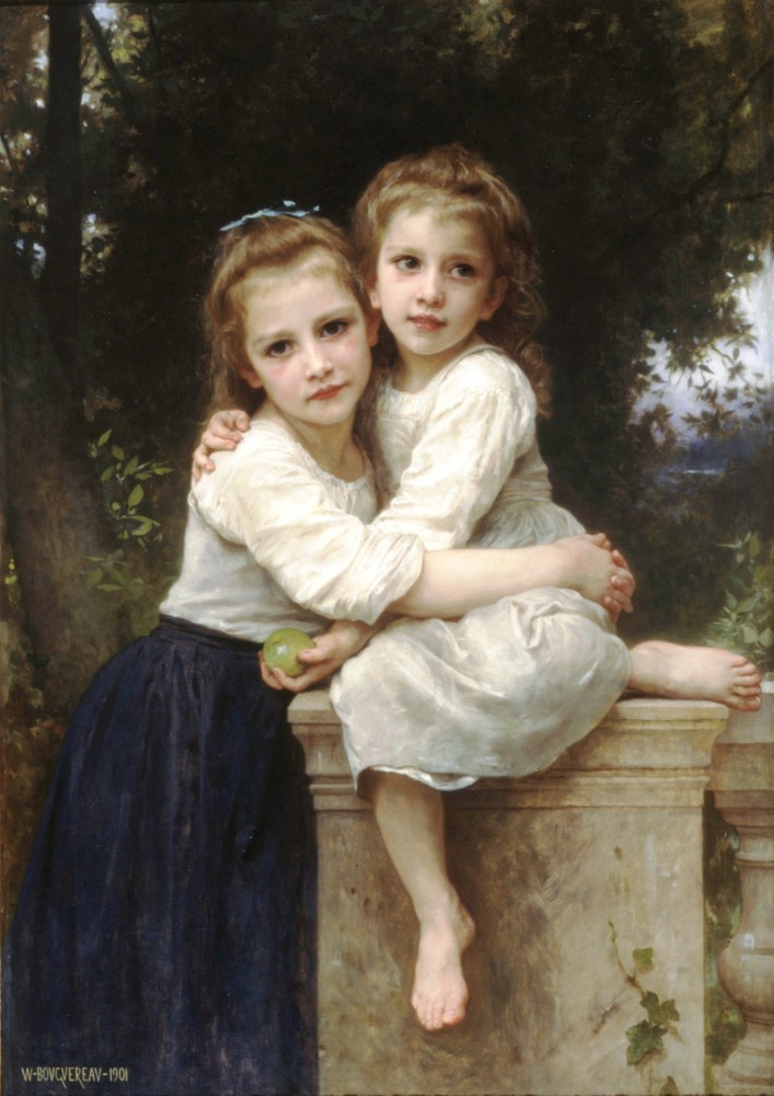 Deux Soeurs by William-Adolphe Bouguereau