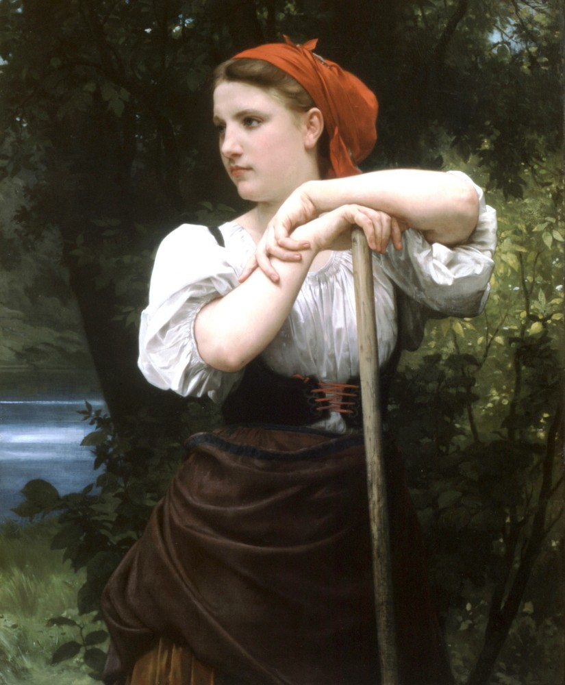 Faneuse by William-Adolphe Bouguereau