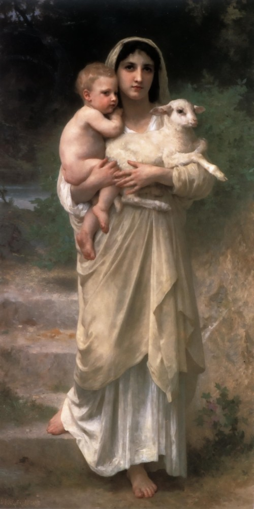 Le Jeune Bergere by William-Adolphe Bouguereau