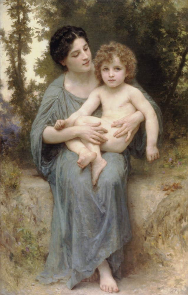 Le Jeune Frere by William-Adolphe Bouguereau