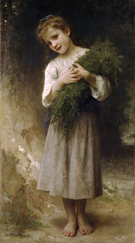 Retour des champs by William-Adolphe Bouguereau