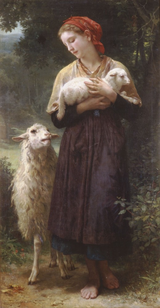 The Shepherdess by William-Adolphe Bouguereau