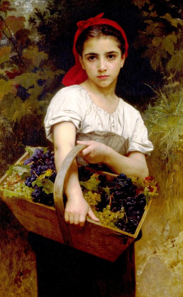 Vendangeuse by William-Adolphe Bouguereau