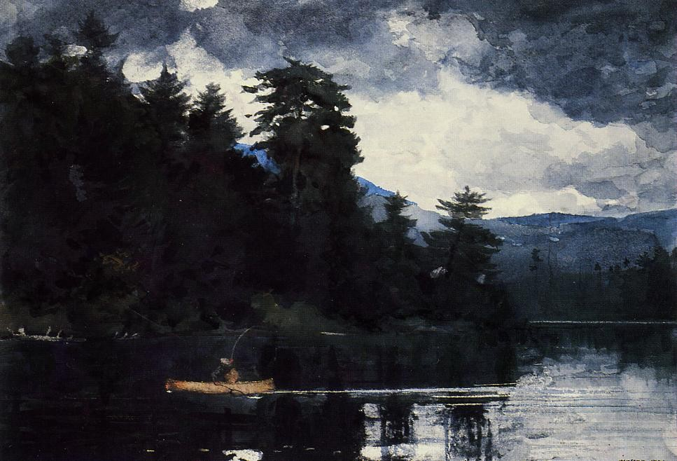 Adirondack Lake by Winslow Homer
