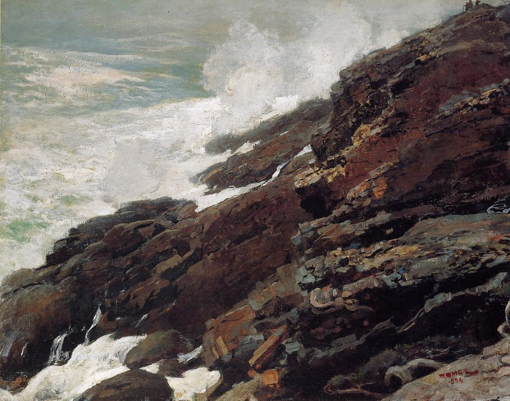 High Cliff Coast of Maine by Winslow Homer