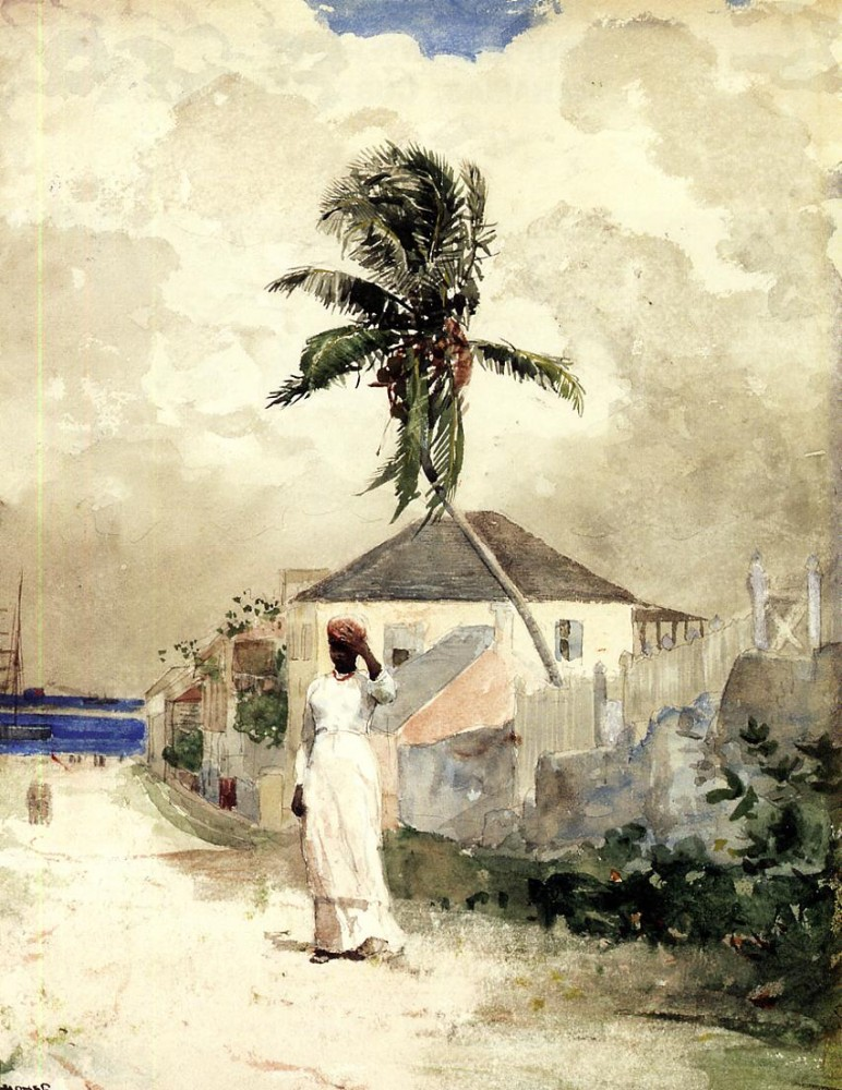 Along the Road Bahamas by Winslow Homer