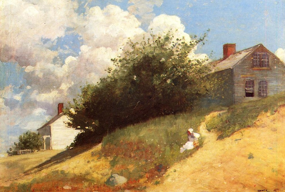 Houses on a Hill by Winslow Homer