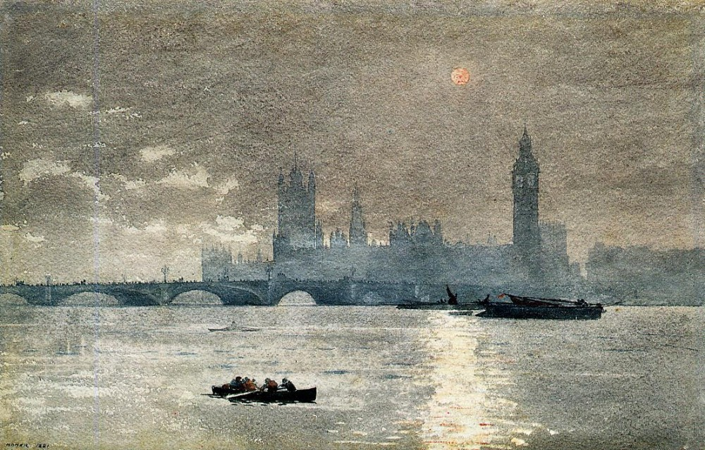 The Houses of Parliament by Winslow Homer