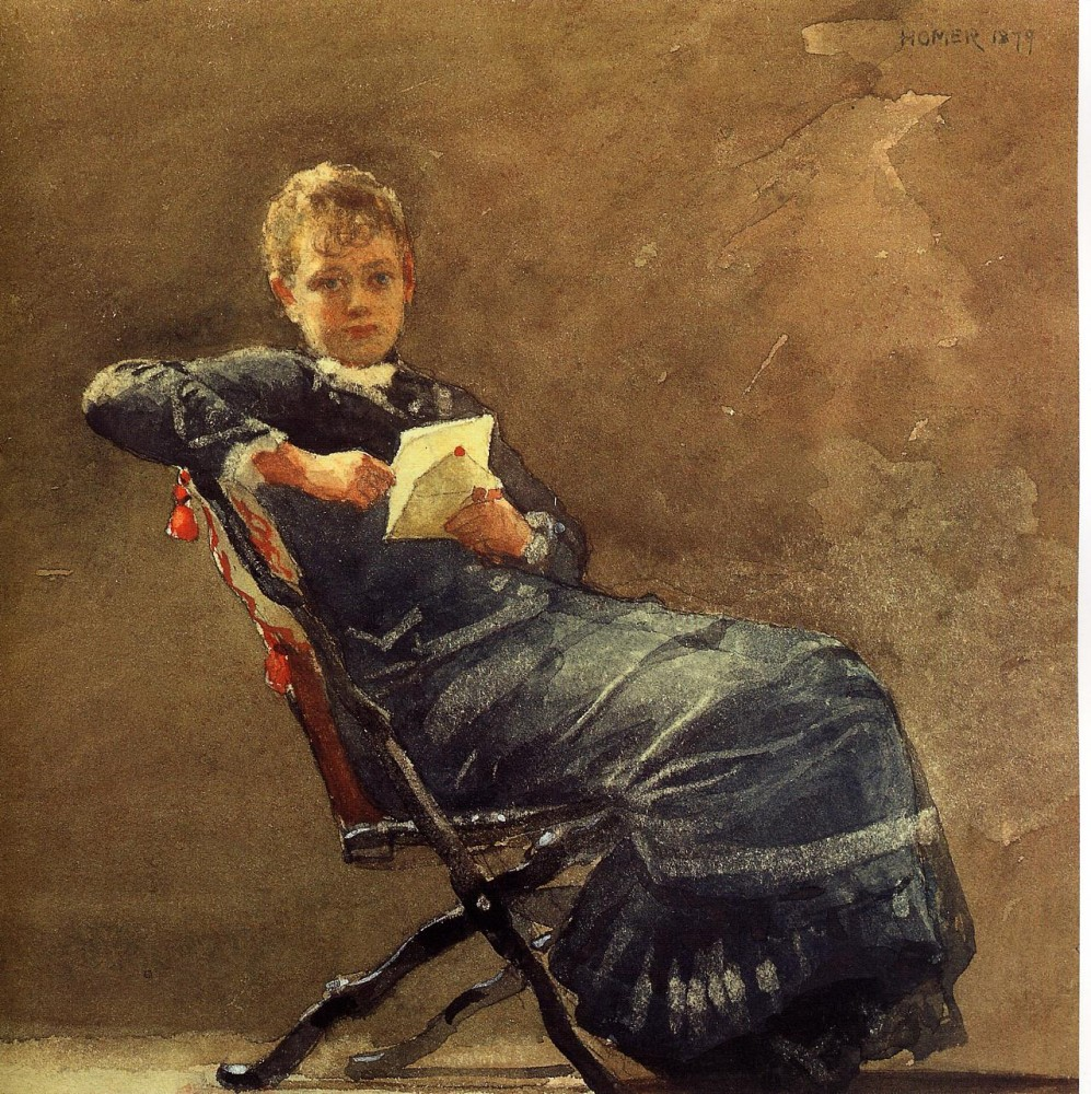 Girl Seated by Winslow Homer