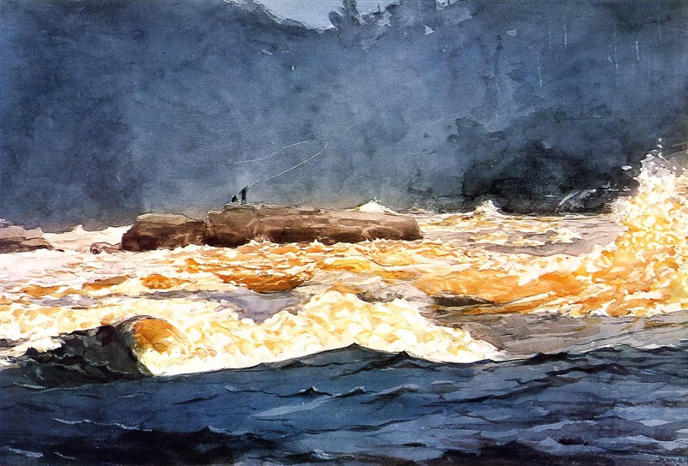 Fishing the Rapids Saguenay by Winslow Homer