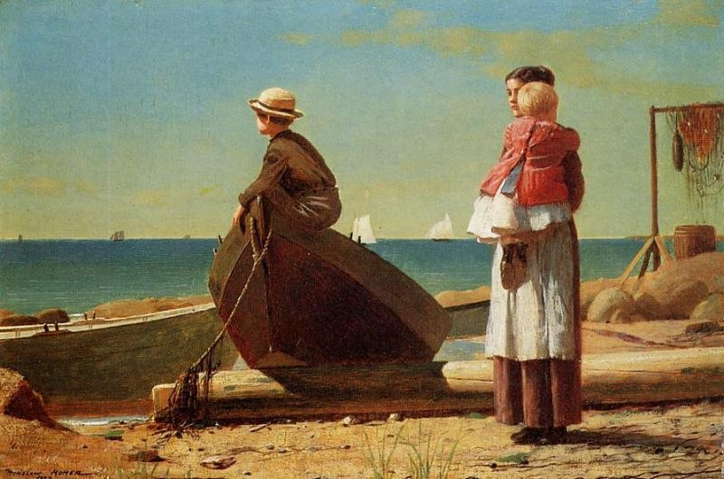 Dads Coming! by Winslow Homer