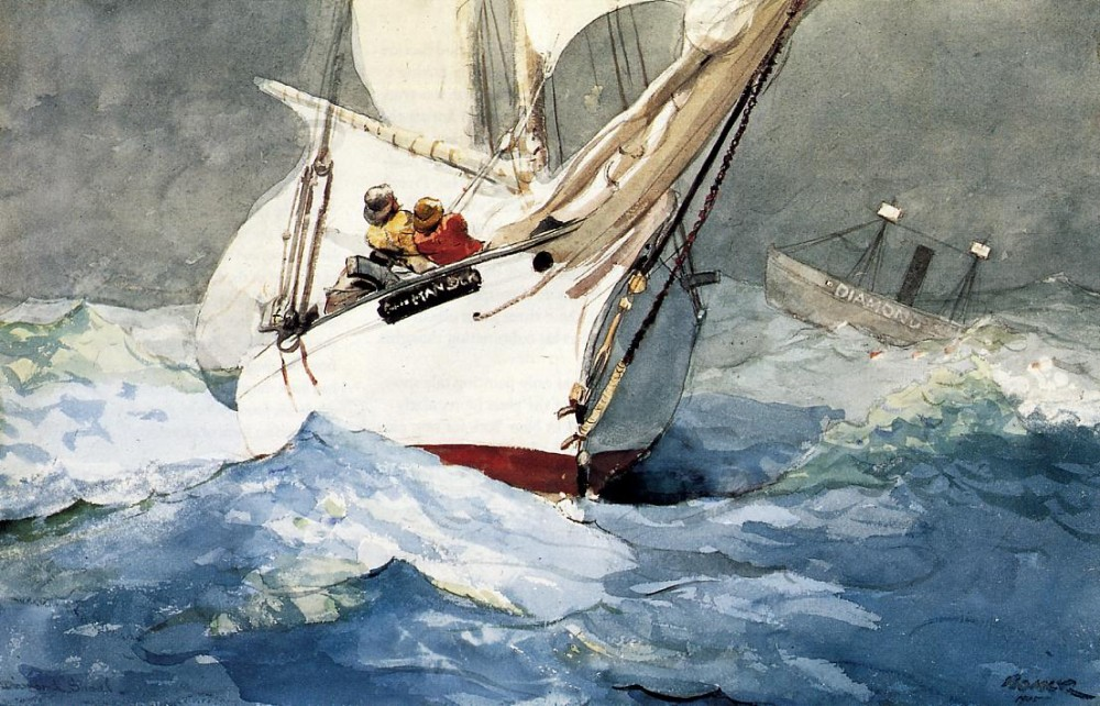 Diamond Shoal by Winslow Homer