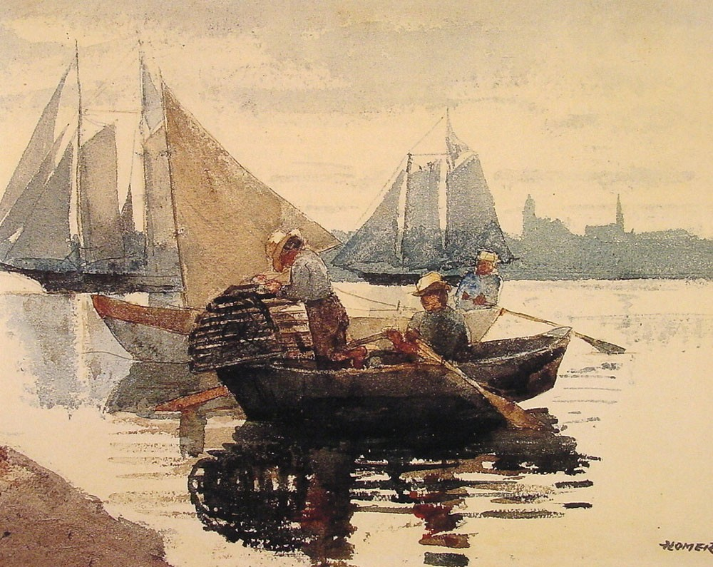 The Lobster Pot by Winslow Homer
