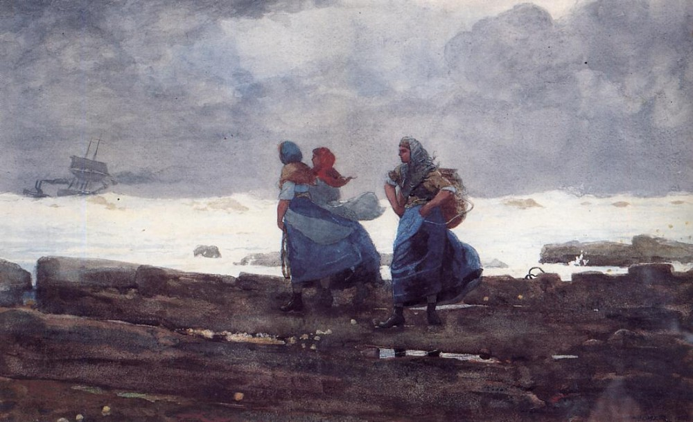 Fisherwives by Winslow Homer