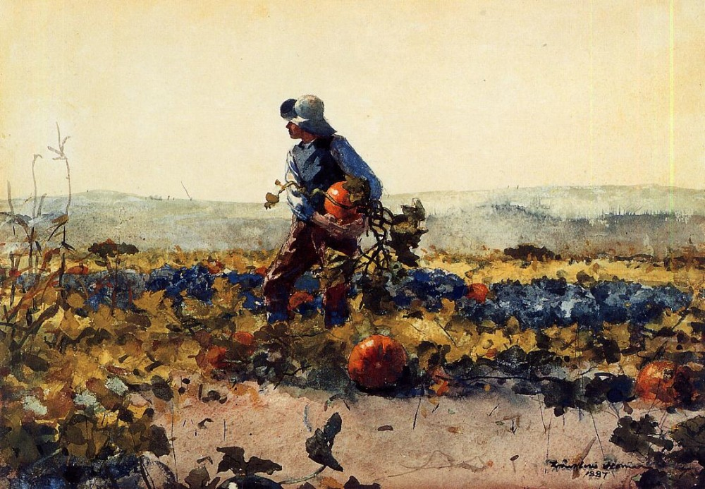 For the Farmers Boy Old English Song by Winslow Homer