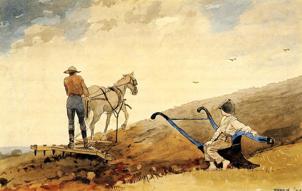 Harrowing by Winslow Homer