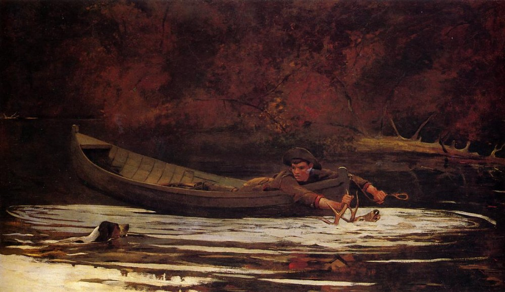 Hound and Hunter by Winslow Homer
