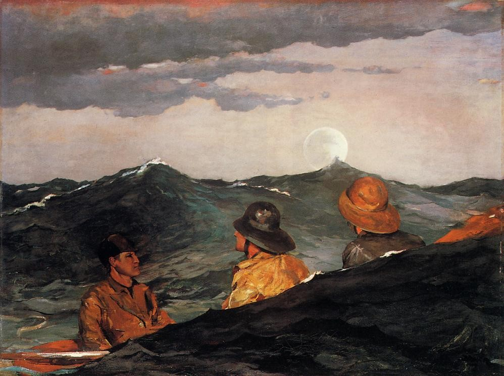 Kissing the Moon by Winslow Homer