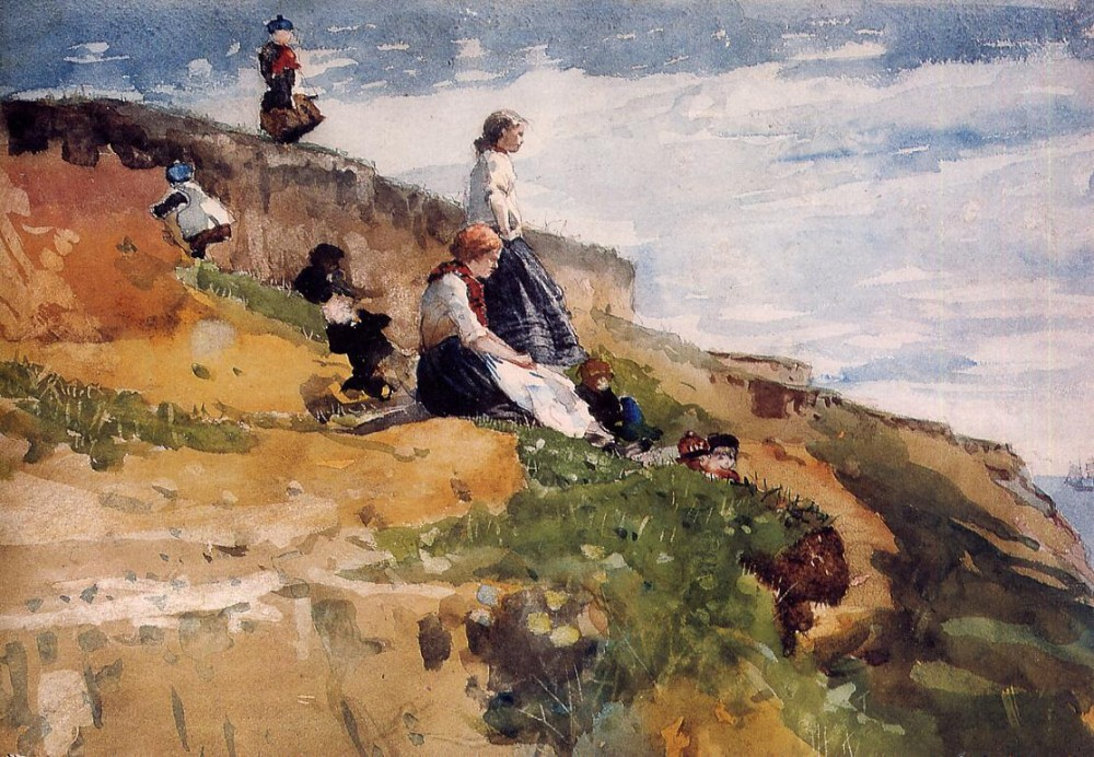 On the Cliff by Winslow Homer