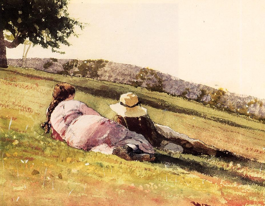On the Hill by Winslow Homer