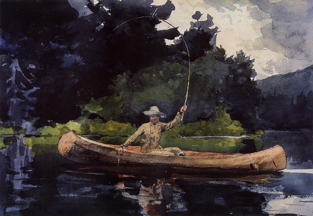 Playing Him by Winslow Homer