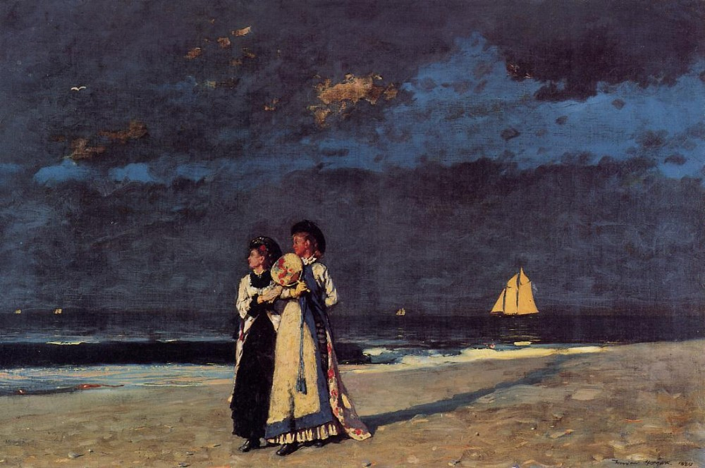 Promenade on the Beach by Winslow Homer