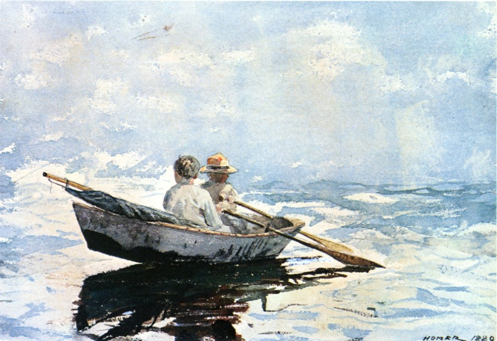 Rowboat by Winslow Homer