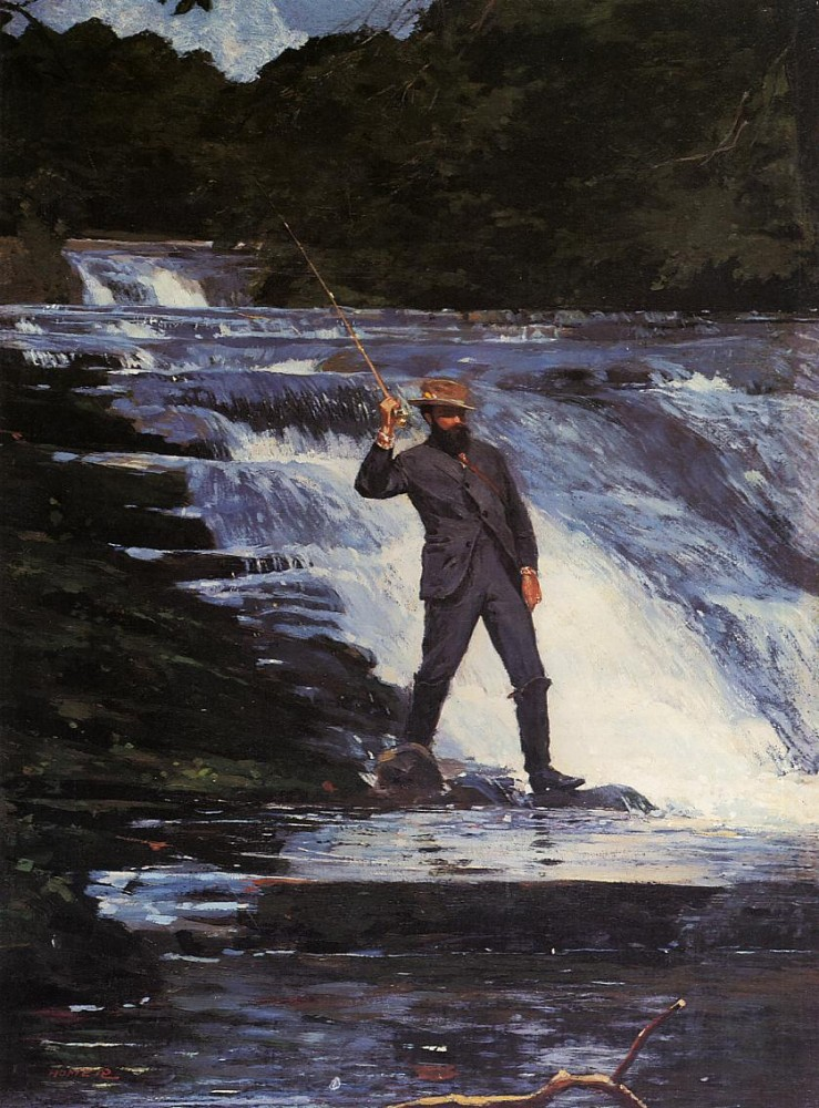 The Angler by Winslow Homer